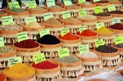Mercado de la especia Fotografía de archivo libre de regalías