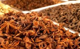 Mercado de la especia en la India imagenes de archivo