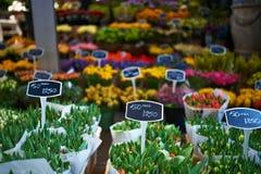 Mercado de la flor de Amsterdam Fotos de archivo