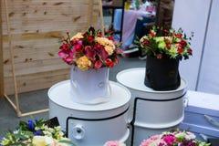 Mercado de la flor de Kiev - la primera flor de la ciudad justa en Kiev, Ucrania 18 de septiembre de 2016 Fotografía de archivo libre de regalías