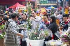 Mercado de la flor del Año Nuevo Foto de archivo