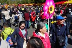 Mercado 2016 de la flor del jazmín de invierno de Guangzhou Imagenes de archivo