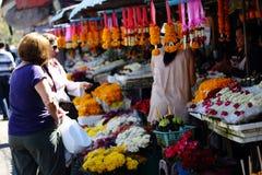 Mercado de la flor en Chiang Mai Fotografía de archivo libre de regalías