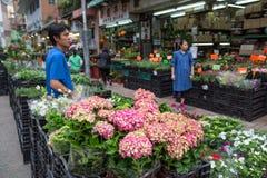 Mercado de la flor en Hong Kong Imagen de archivo libre de regalías