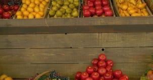Mercado de la fruta almacen de video