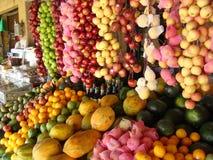 Mercado de la fruta fotos de archivo