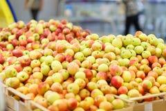 Mercado de la fruta con las diversas frutas y verduras frescas coloridas Concepto del alimento imagen de archivo
