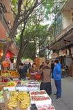 Mercado de la fruta en China Imagen de archivo libre de regalías