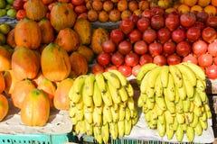 Mercado de la fruta en Mapusa Imágenes de archivo libres de regalías