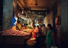 Mercado de la fruta india Foto de archivo