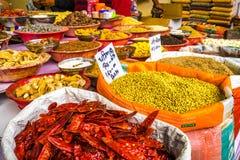 Mercado de la India Delhi de las especias fotos de archivo libres de regalías