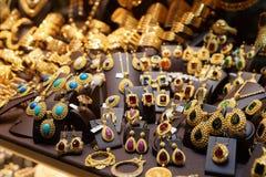 Mercado de la joyería en Estambul fotografía de archivo libre de regalías