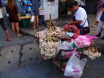 Mercado de la mañana en Bangkok Imágenes de archivo libres de regalías