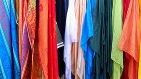 Mercado de la materia textil Imagenes de archivo