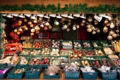 Mercado de la Navidad Fotografía de archivo