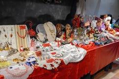 Mercado de la Navidad Imagen de archivo libre de regalías