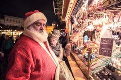 Mercado de la Navidad Foto de archivo