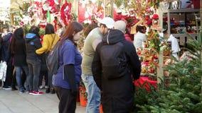 Mercado de la Navidad almacen de video