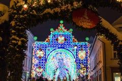 Mercado de la Navidad Foto de archivo libre de regalías