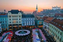Mercado de la Navidad Imagen de archivo