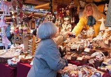 Mercado de la Navidad, Budapest, Hungría Fotos de archivo libres de regalías