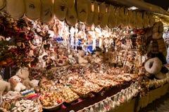 Mercado de la Navidad de Budapest Foto de archivo libre de regalías