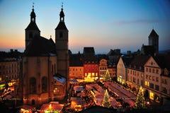 Mercado de la Navidad de Christkindl Fotos de archivo libres de regalías