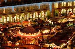 Mercado de la Navidad de Dresden Foto de archivo