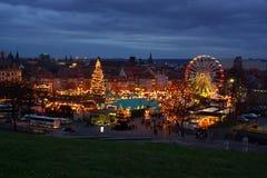 Mercado de la Navidad de Erfurt fotografía de archivo libre de regalías