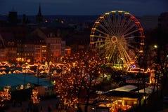 Mercado de la Navidad de Erfurt foto de archivo