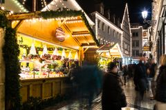 Mercado de la Navidad de Esslingen Foto de archivo