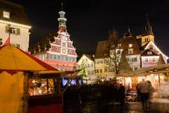 Mercado de la Navidad de Esslingen Imagen de archivo libre de regalías