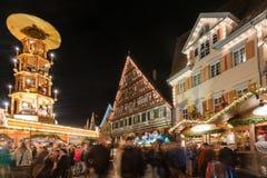 Mercado de la Navidad de Esslingen Fotos de archivo libres de regalías
