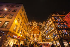 Mercado de la Navidad de Estrasburgo Imagen de archivo libre de regalías