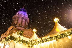 Mercado de la Navidad de Gendarmenmarkt Imágenes de archivo libres de regalías