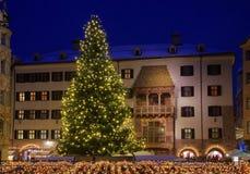 Mercado de la Navidad de Innsbruck imagen de archivo libre de regalías