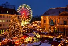 Mercado de la Navidad de Magdeburg imagen de archivo libre de regalías