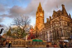Mercado de la Navidad de Manchester Imagen de archivo libre de regalías