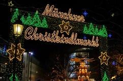 Mercado de la Navidad de Munich Fotos de archivo libres de regalías