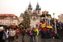 Mercado de la Navidad de Praga Foto de archivo libre de regalías
