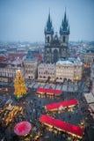 Mercado de la Navidad de Praga Fotografía de archivo libre de regalías