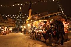 Mercado de la Navidad de Tallinn Foto de archivo libre de regalías