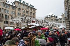 Mercado de la Navidad de Zurich imagenes de archivo
