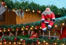 Mercado de la Navidad, decoración Imagen de archivo