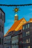 Mercado de la Navidad - decoraciones Nuremberg-Alemania de la ejecución Imagenes de archivo