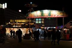 Mercado de la Navidad en Alexanderplatz Foto de archivo libre de regalías