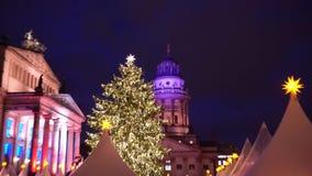 Mercado de la Navidad en Berlín metrajes