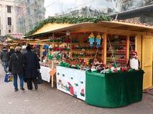 Mercado de la Navidad en Budapest Imágenes de archivo libres de regalías