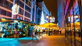 Mercado de la Navidad en Budapest Foto de archivo libre de regalías