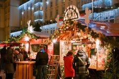 Mercado de la Navidad en Dresden Imagenes de archivo